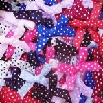 Polka Dot Satin Ribbon Bows